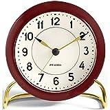 Arne Jacobsen Station Horloge de Table en Aluminium Bordeaux 11 cm