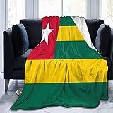 Couverture Extra-Douce ,Très Doux Duveteuse Confortable Durable Chaud , Drapeau Togo Couverture Polaire Convient pour Lit Canapé Salon 150x125cm