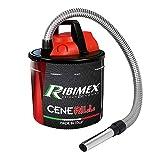 Ribimex Cenerill Electric Nettoyeur de cendres 1000 W, 18 L avec double filtre et lance plate