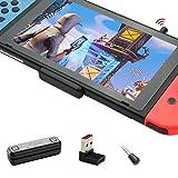 GuliKit Route Air Pro Adaptateur Bluetooth pour Nintendo Switch/ Switch OLED/ Switch Lite PS4 PC, USB C Transmetteur Audio sans Fil avec aptX Faible Latence pour Bluetooth Écouteurs - Noir