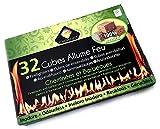 Cubes allume-feu pour cheminées | Lot de 6 boites | Barbecues feux de camp fours à bois poêle | Bois compressé cire végétale | 32 cubes par boite | Naturel écologique | Kibros 4CALFx6
