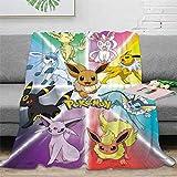 Jeté de lit de voyage Pokémon 100 x 130 cm, léger, super doux et confortable pour canapé et literie