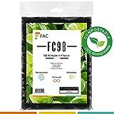 Fac FC98 - filtre à charbon Bio en fibre de lin naturel + charbon actif - 2 couches séparables - Fabrication 100% Française (Biodégradable)