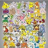shihe Pokémon Pokemon Graffiti Étanche Skateboard Voyage Valise Téléphone Ordinateur Portable Bagages Autocollants Mignon Enfants Fille Jouets 80 Pcs
