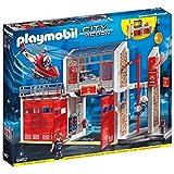 Playmobil - Caserne de Pompiers avec Hélicoptère - 9462