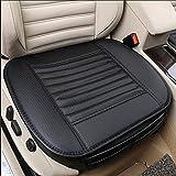Coussin de siège, Protection des sièges d'auto, Confort et respiration Four Seasons General Pu Cuir Bambou Charcoal Intérieur de voiture respirant, Fournitures de voiture (Noir, 1 Pcs)