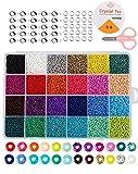 Perles de rocaille en verre, petites perles de poney assortiespour Fabrication de Bijoux Bracelets Colliers Serre-Tête Cadeau Anniversaire