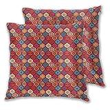 SAIAOS 2pcs Housse de Coussin 40x40cm,Imprimé Naturel ondulé Oriental marocain en Microfibre Taie d'oreiller Decoration Canapé Salon Moderne Voiture Chambre