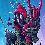 Amacigana Spider Man Drap-housse en microfibre 90 x 200 cm pour matelas jusqu'à 30 cm de haut, drap pour lit à sommier tapissier 90 x 190 cm