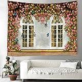 KUKUALE Rosettes sur la Tapisserie d'impression numérique en Tissu décoratif de Fond de Mur 100 * 150cm