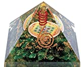 Orgonite pyramide fleur de vie Malachite (Favorise le sommeil, agit positivement sur la santé)