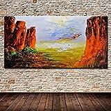 CHBOEN Peinture décorative Mintura Art Big Taille Peinture à la main Toile peinte à la main Peinture à l'huile Palette Couteau 3D Texture Acrylique Landcape Landcape Argent Art pour le salon