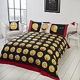 Smart Parure de lit icônes Smileys Parure de lit avec Housse de Couette et 2taie d'oreiller Parure de lit, Blanc, Roi Taille