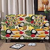 Housses de canapé pour canapé 2 coussins, housses de canapé super extensibles Woodpecker Butterfly Housses de canapé en microfibre à imprimé animal avec deux housses de coussin pour fauteuil