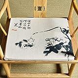 QTQHOME Fauteuil Chinois en Tissu Coussin Coussin Fauteuil Taishi Chaise Coussin à Manger Table Chaise Chaise Antique Coussin Moderne Maison De Thé à Manger-A