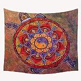 jtxqe Mandala Pendaison Bijoux en Tissu canapé décoration Murale Feuilles Nappe décoration Tapisserie Grande décoration Tapisserie 130x150cm