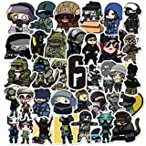 HONGC Tir Gametom Clancy's Rainbow Six Siege Autocollants pour Meubles Mur Bureau Bricolage Chaise Jouet Voiture Coffre Ordinateur TV Box 50 Pcs