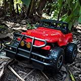 NG Daily Equipment Radio Remote Control Vehicle Sport Racing Trucks Toys R/C Monster Truck Dual Motors Rechargeable Toy Remotes Controls Electric Vehicle Off-Road Race Car (Color : Red)