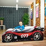 Lit pour enfant ou bébé en forme de voiture avec matelas, de qualité supérieure