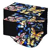 YUYOUG 100PC Adulte P𝐚pillon Imprimé 𝐌𝐀𝐒𝐐𝐔𝐄 f𝐚ci𝐚l 𝐉𝙚𝐭𝐚𝐛𝐥𝐞 avec 3 plis industri𝙚ls, r𝙚spirant coup𝙚-vent confortable imprimé papillon thème de Noël Fac𝙚_M𝐚sk pour la Fête