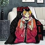 Couverture Super Douce et légère Kenma Kozume Affiche Couette d'été pour lit canapé canapé XS Twin pour Enfant