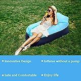 FunPa Air Canapé, Hamac Gonflable Canapé Gonflable Air Lit Air Sofa Plage Chaise d'air pour Camping en Bord de la Mer et Voyage en Plein Air, Bouées