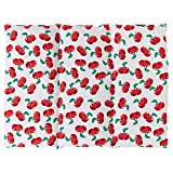 Coussin aux graines de colza - Taille 40x30-3 compartiments - Cherry-white - Coussin thermique - Coussin aux graines - Compresse froide -