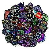 Jackify Stickers Autocollants au néon[50Pcs] Lot Autocollant Graffiti Vinyle Stickers Déco pour Ordinateur Portable, Valises, Moto, Skateboard, Voiture, Snowboard, Bagages Autocollants Bomb