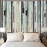 Tapisserie en bois rétro art tapisserie hippie tenture murale chambre mur planche motif tapisserie fond tissu A5 130x150 cm