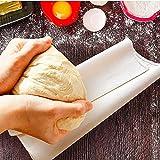 BUZIFU Couche Boulanger en Coton Naturel, Toile en Coton pour Pain Tissu de Boulanger Professionnel pour Cuisson des Baguettes de Pain (90 * 60CM)