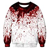 WeWana Unisex Ugly Christmas Pullover 3D Imprim Xmas Jumper Manches Longues Crew Neck Sweatshirt M-XXL,M