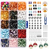 Perles de pierres précieuses naturelles pour kits de fabrication de bijoux 15 couleurs puces irrégulières perles de pierre cristal de guérison perles en vrac pour la fabrication de colliers