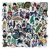 TTKLXJR 10/30 / 50pcs Anime My Hero Academia Stickers PVC Decorques de Dessin animé Bagage Guitare Skateboard Cool Graffiti Autocollant pour Enfant (Color : 30PCS My Hero)