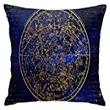 LOSNINA Housses de Coussin, Ancienne Constellation de l'hémisphère sud, Thème canapé canapé Salon intérieur extérieur décor à la Maison (18' * 18') 1pc