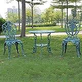 Table et chaise d'extérieur en fonte d'aluminium ensemble table et chaise de balcon, ensemble table et chaise de loisirs ensemble de meubles de jardin table et chaise de balcon, meubles de terrasse
