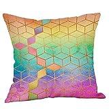 Rockboy Taie d'oreiller Multicolore Couverture Paillette Couverture Paillettes canapé Taille Jeter Housse de Coussin Home Decor 45X45 CM
