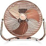 Brandson 120 W Ventilateur en Design rétro - 50 cm de diamètre - Trois Vitesses Low - Medium - High - débit d'air élevé - tête du Ventilateur réglable - métal Solide - cuivre