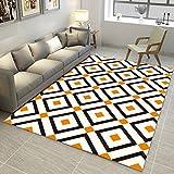 Tapis Carré Rectangulaire Carpet Designer Tapis Salon Tapis Chambre Tête de lit Tapis Bureau Barres géométriques (Couleur : #3, taille : 180 * 280CM)