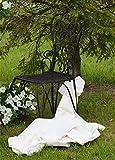Chaise Jardin Metal Meuble Salon Marron Shabby Chic Rustique Vintage Ancien 107 x 50 x 45 cm A24