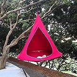 Tente Suspendue, UFO Forme Cône Tente Arbre Hamac Balançoire Suspendu, étanche Balancoire pour Adultes Et Enfants Intérieur Extérieur, Protection Solaire Sièges Suspendus,A
