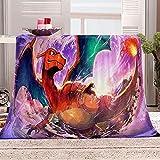 Plaid Polaire Enfant Pokémon 3D Impression Couvertures Douce Moelleuse Flanelle Couverture De Pause Déjeuner Bureau Couverture pour lit et canapé 180x200cm