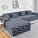 Housse de canapé d'angle Extensible Couverture de Canapé en Forme de L, pour canapé 1/2/3/4 places(Le Revêtement de Canapé d'angle en L Doit en Acheter Deux) (Color : A, Size : 1 place (90-140cm))