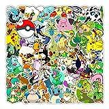 shihe Anime Pokemon Graffiti Autocollants Planche À roulettes Téléphone Bouilloire Tablette Pc Autocollants Décoratifs en Gros 100 Pièces