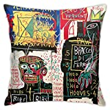 EIIen J Austin Jean Michel Basquiat Taie d'oreiller tendance et durable en peluche