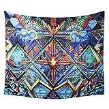 YANGDD Tapisserie murale indienne soleil lune à suspendre au mur style hippie tribal folk à suspendre au mur de pique-nique drap de plage Couverture de plafond décorative -150 x 130 cm