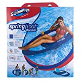 SwimWays - 6038047 - Spring Float Recliner - Fauteuil Gonflable de Piscine Semi Immergé en Tissu - Couleur Aléatoire