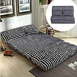 Matelas Futon De Style Japonais, Se Pliant Dans Un Canapé Paresseux Adapté à La Location D'un Petit Appartement-90x210cm(35x83inch)