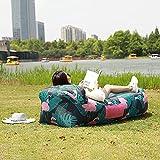 Hamac Gonflable Canapé Portable Léger Étanche avec Oreiller Intégré et Sac de Rangement pour Voyager Camping Randonnée Piscine et Parties de Plage (Flamant)