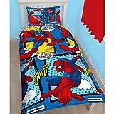 Ensemble housse de couette et taie d'oreiller avec modèles réversibles simples de l'homme-araignée par Spiderman