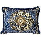 Casa Moro SO1309 Housse de coussin décorative marocaine Hassena Bleu 70 x 50 cm | Housse de coussin orientale pour coussin décoratif vintage Coussin de canapé à motif | Bleu
